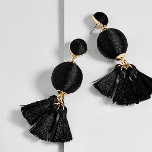 BaubleBar Samba Ball Drop Earrings in Black